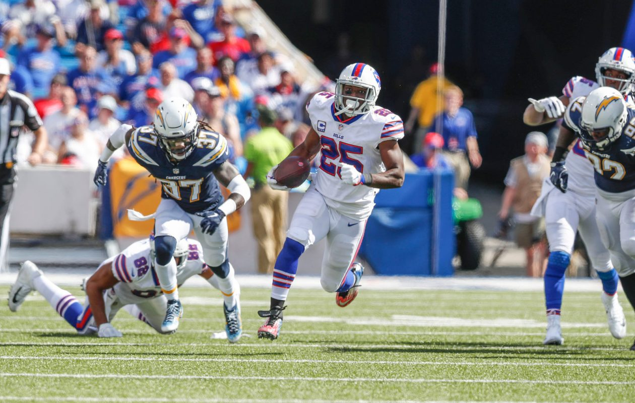 Bills running back LeSean McCoy rushed for 39 yards Sunday against the Chargers. (Mark Mulville/Buffalo News)