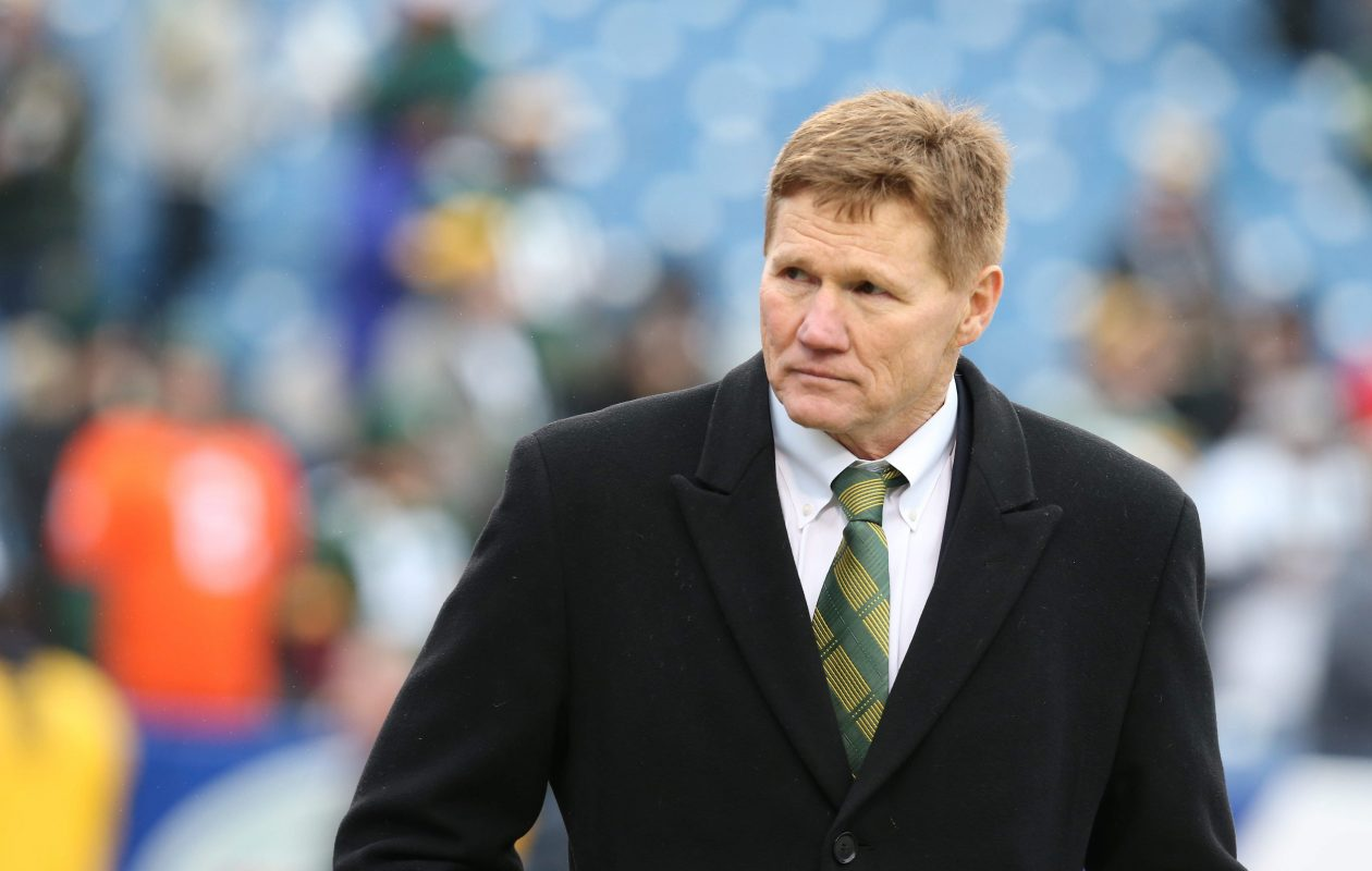 Green Bay Packers President and 1973 Clarence High School graduate Mark Murphy walks the field before the game against the Buffalo Bills at Ralph Wilson Stadium in Orchard Park  on Sunday, Dec. 14, 2014.  (James P. McCoy/Buffalo News)