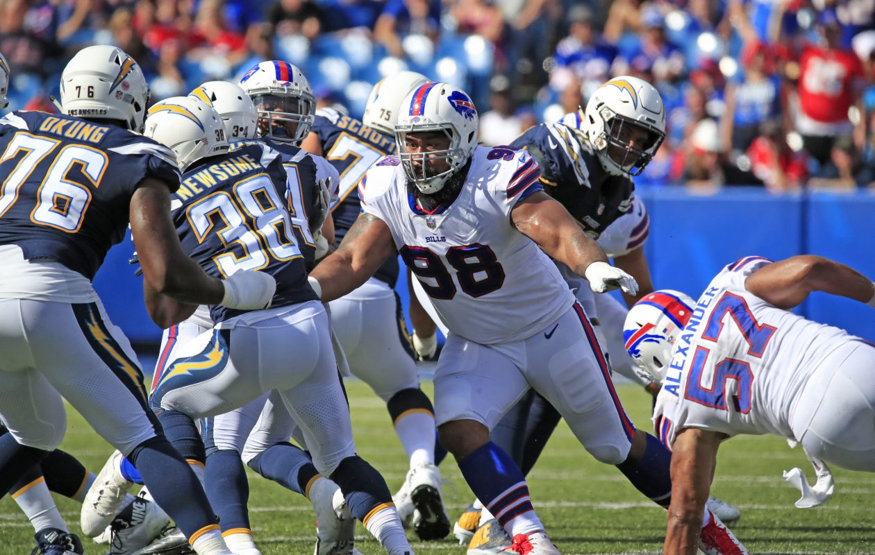 Star Lotulelei's no-stat-line alarmed many, but he has played his role to an overstuffed extent. (Harry Scull Jr./Buffalo News)