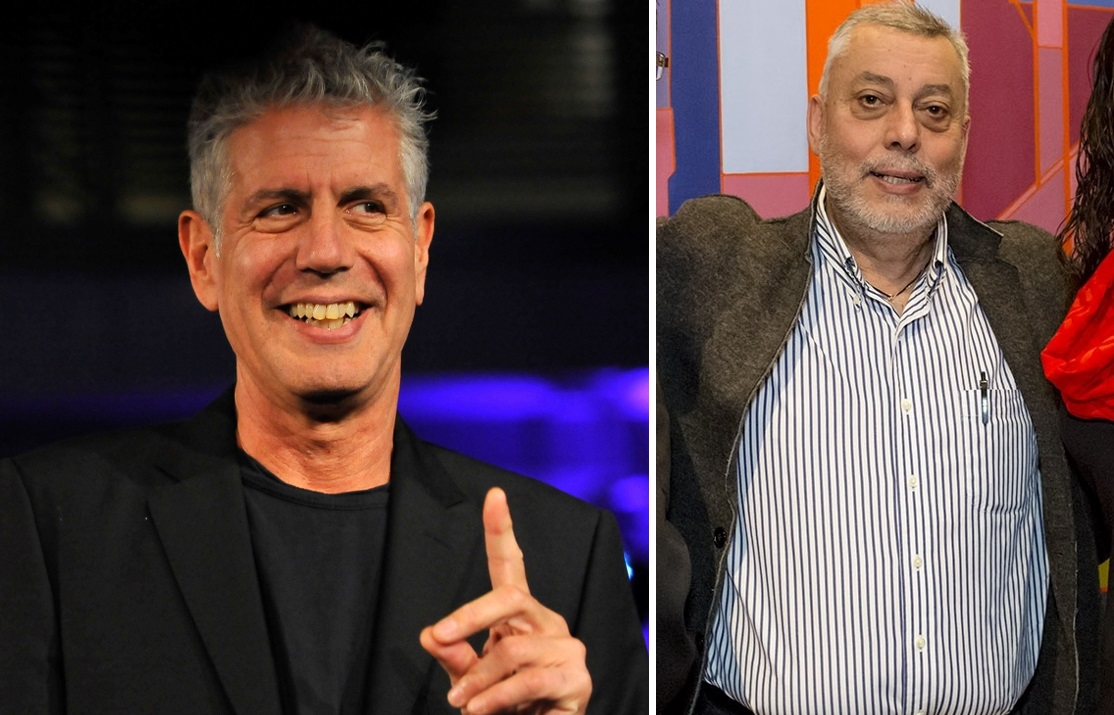 Anthony Bourdain, pictured in 2014, and Zamir Gotta, right, from his Buffalo event in 2016. (Larry French/Getty Images; Valerie Sauers/Special to The News)