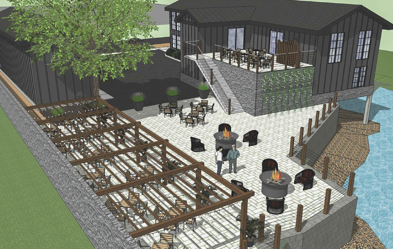 Two buildings on Main St., the former Center for Plastic Surgery, will be remodeled on a theme reflecting their original use as a blacksmithing operation.