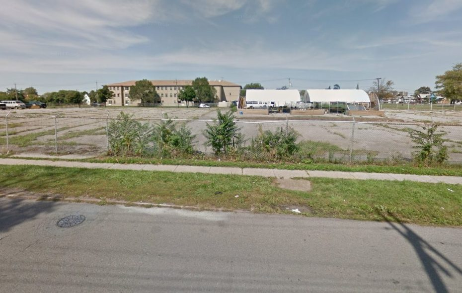 This parking lot on Northampton is the proposed site of Community Action Organization's planned new day care and medical clinic. (Image via Google)