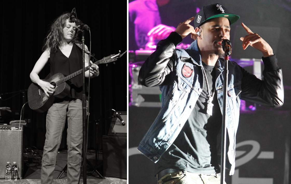 Neko Case, left, and J. Cole are two major performers in Buffalo this week. (Matt Weinberg/Special to The News; Harry Scull Jr./News file photo).