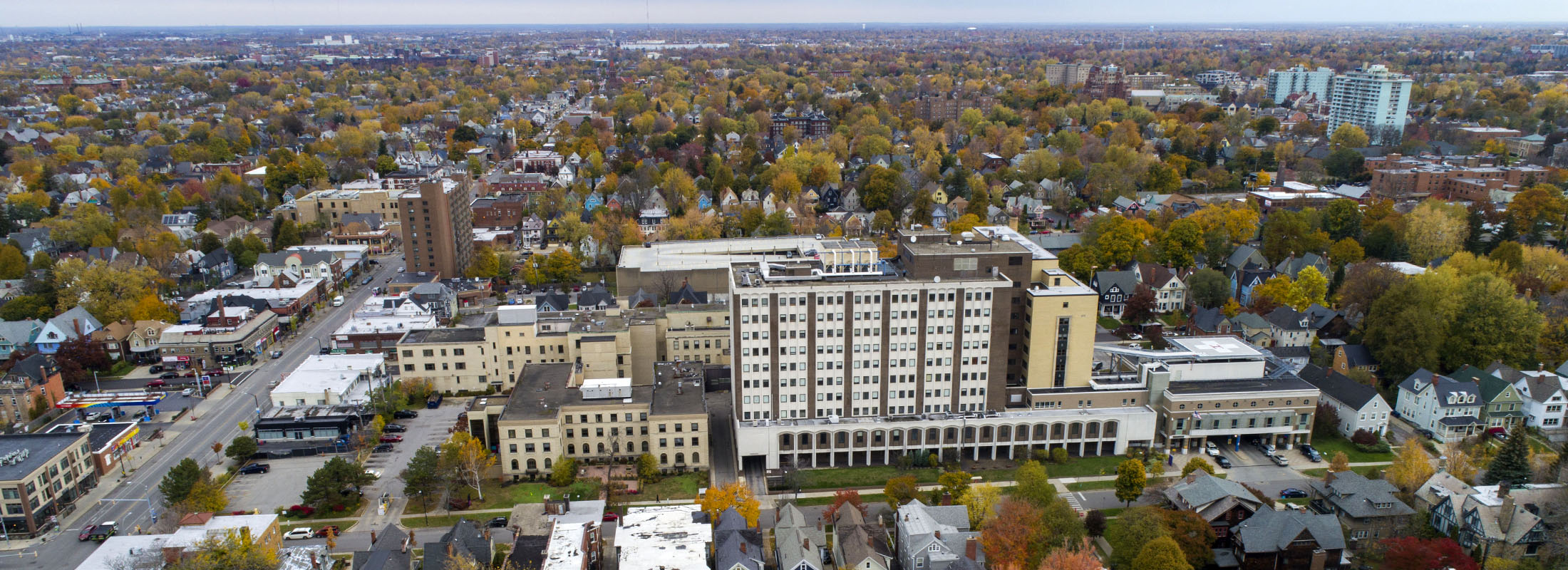 The 8-acre former Children's Hospital campus the Elmwood Village is being transformed into Elmwood Crossing. (Derek Gee/News file photo)
