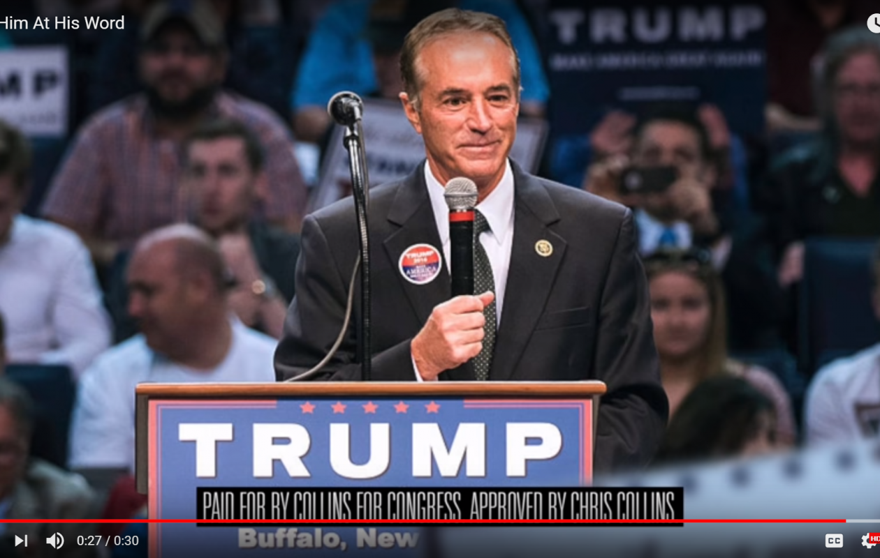 Rep. Chris Collins' decision to re-enter the election after his indictment caused consternation within the local Republican party and beyond.