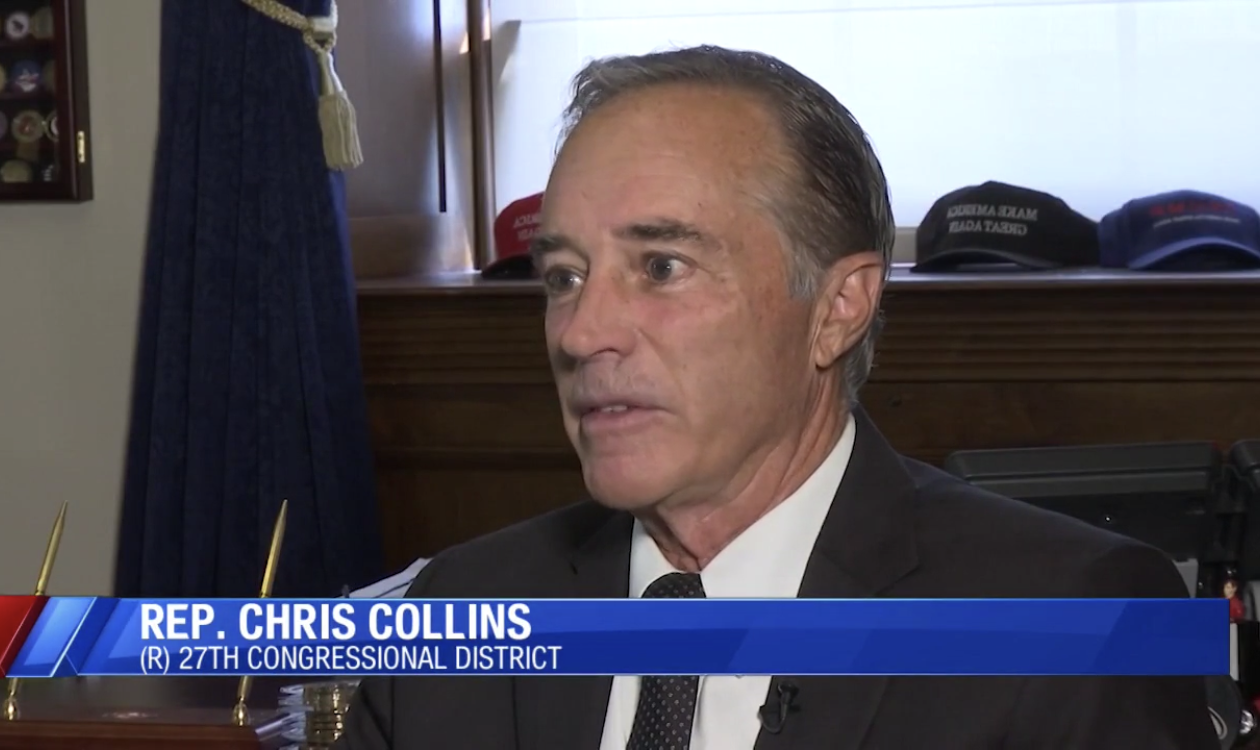 Rep. Chris Collins maintained his innocence in an interview with WIVB-TV.