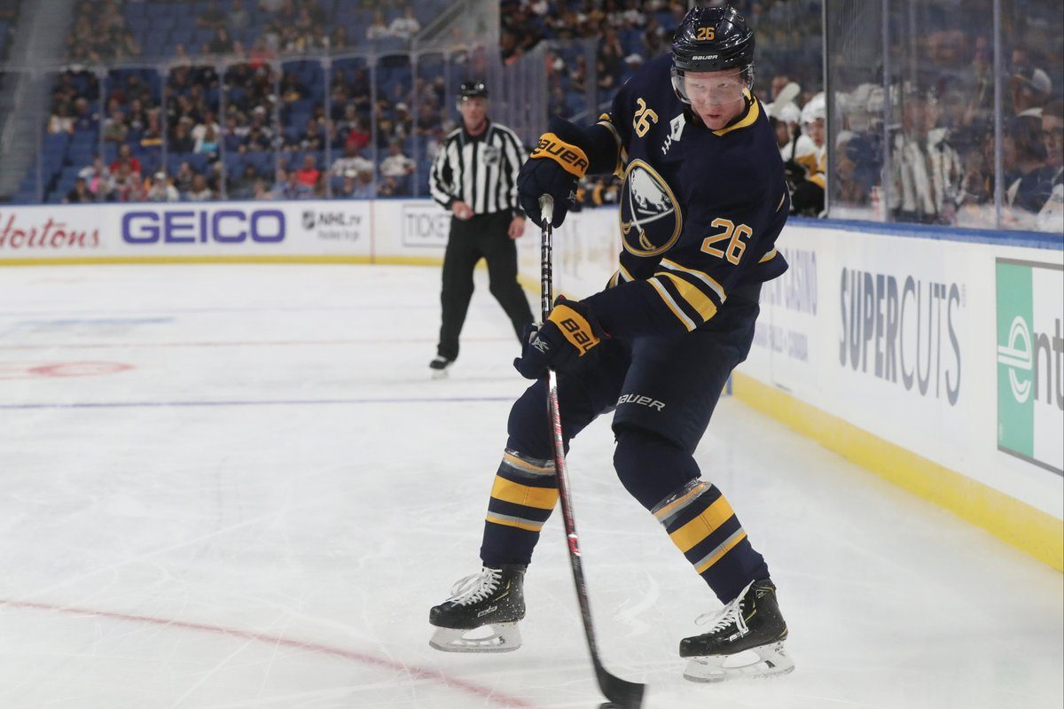 Rasmus Dahlin had a goal and an assist for the Sabres on Saturday in Minnesota. (James P. McCoy/Buffalo News file photo).