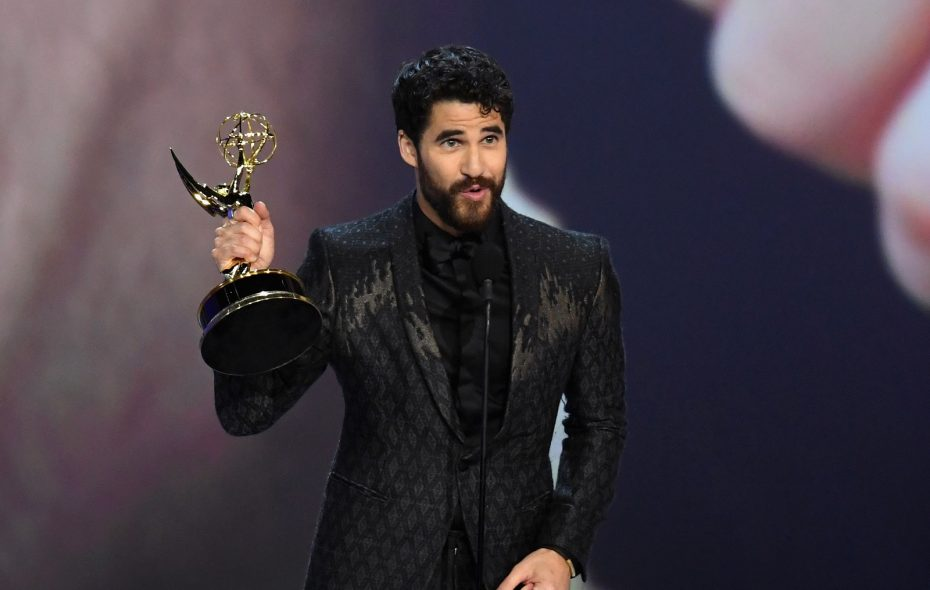 Darren Criss accepts the Outstanding Lead Actor in a Limited Series or Movie during the 70th Emmy Awards (Kevin Winter/Getty Images)