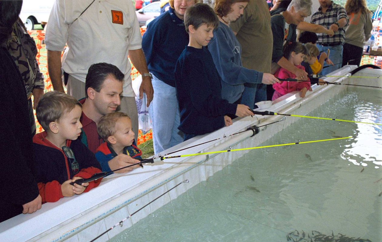 One of the most popular features at the Wildlife Festival year after year is the Niagara River Anglers Association's fishing pond - the opportunity for kids to catch their first fish.