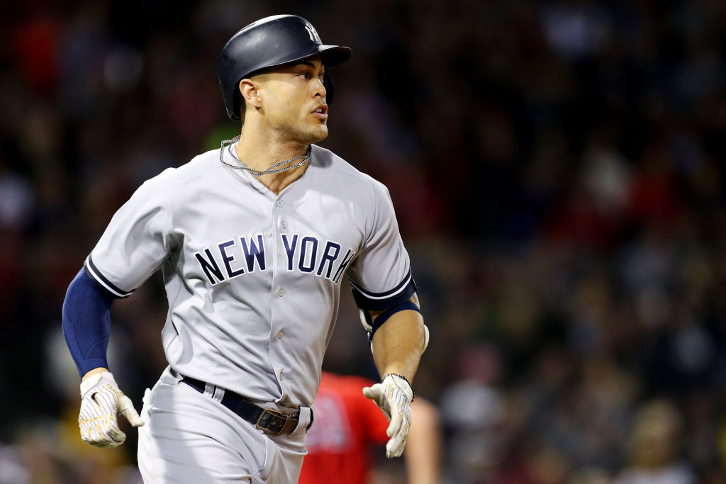 Giancarlo Stanton is embarking on his first postseason with the Yankees (Getty Images).