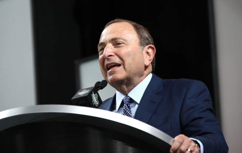 Gary Bettman is optimistic about the Sabres' future (Getty Images).