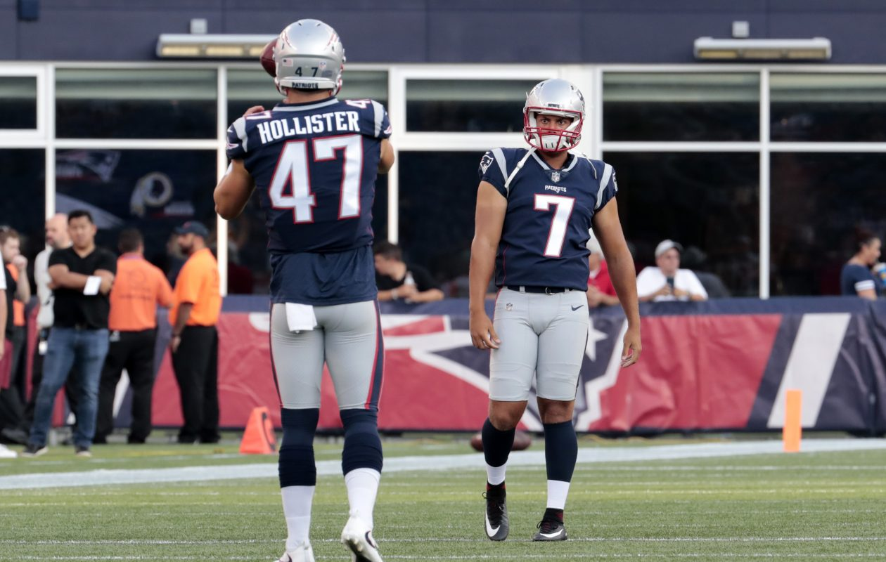 New Bills punter Corey Bojorquez (7) spent the summer with the Patriots, but did not punt during the preseason. (Getty Images)