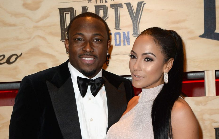 LeSean McCoy and Delicia Cordon in 2017. (Getty Images for ESPN)