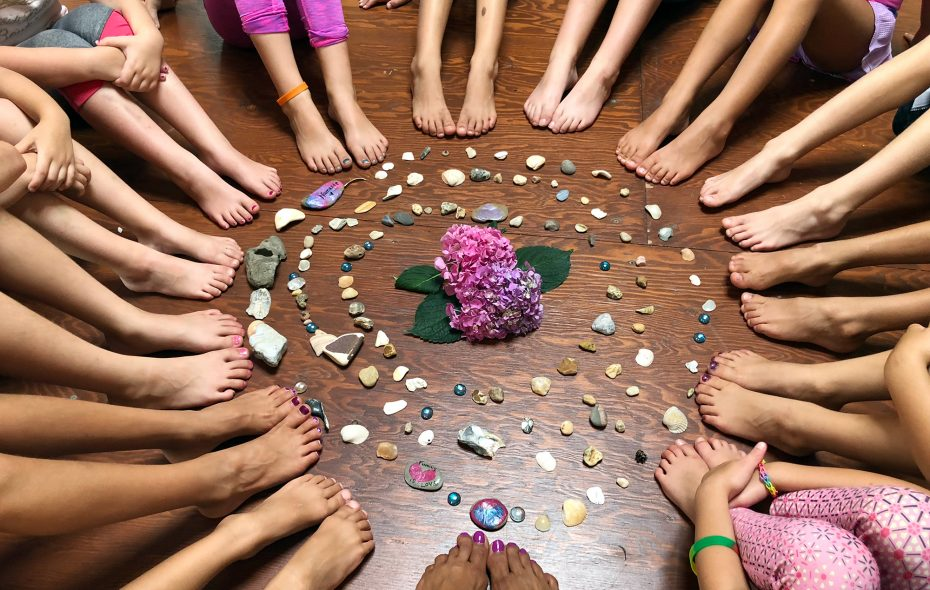 Mini yogis practice mindfulness at Healing Waters in East Aurora. (Rachna Clerici)