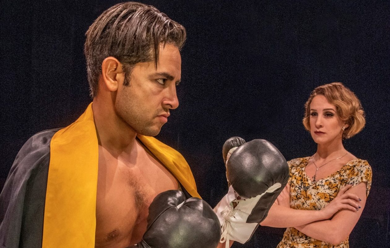 Anthony Alcocer as Joe Bonaparte and Cassie Cameron as Lorna Moon give exceptional performances in 'Golden Boy' at Irish Classical Theatre Company. (Photo by Gene Witkowski)