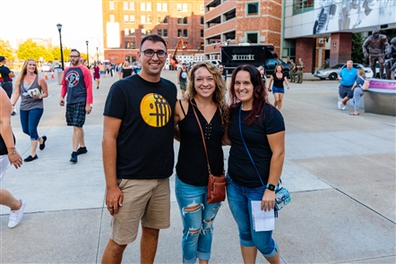 Smiles at Fall Out Boy at KeyBank Center