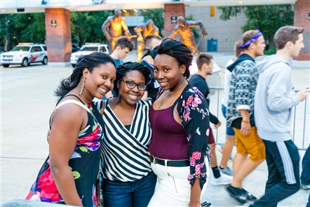 Smiles at J. Cole outside KeyBank Center