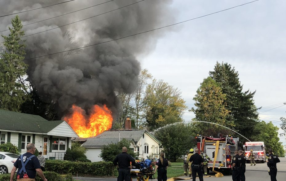 A fire Thursday morning in a house on West Lane in Lake View started in the rear of the structure. (T.J. Pignataro/Buffalo News)