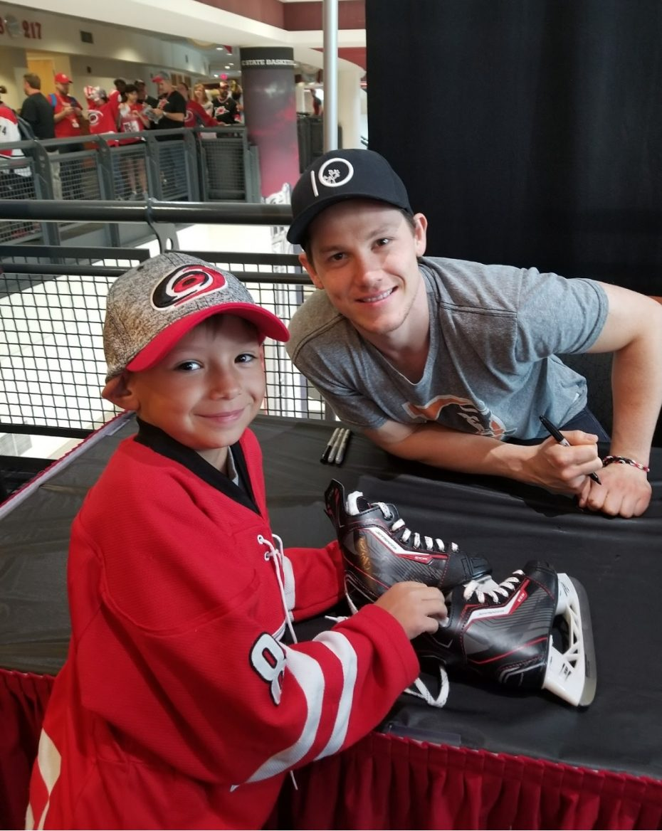 jeff skinner-buffalo sabres-carolina hurricanes-make a wish foundation