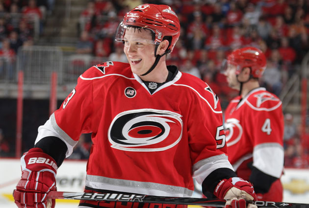 Jeff Skinner played eight years with Carolina before being traded to the Sabres last month (Getty Images).