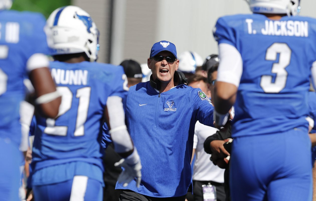 Lance Leipold and the University at Buffalo football team faced Troy on Saturday in the Dollar General Bowl in Mobile, Ala. (Mark Mulville/News file photo)