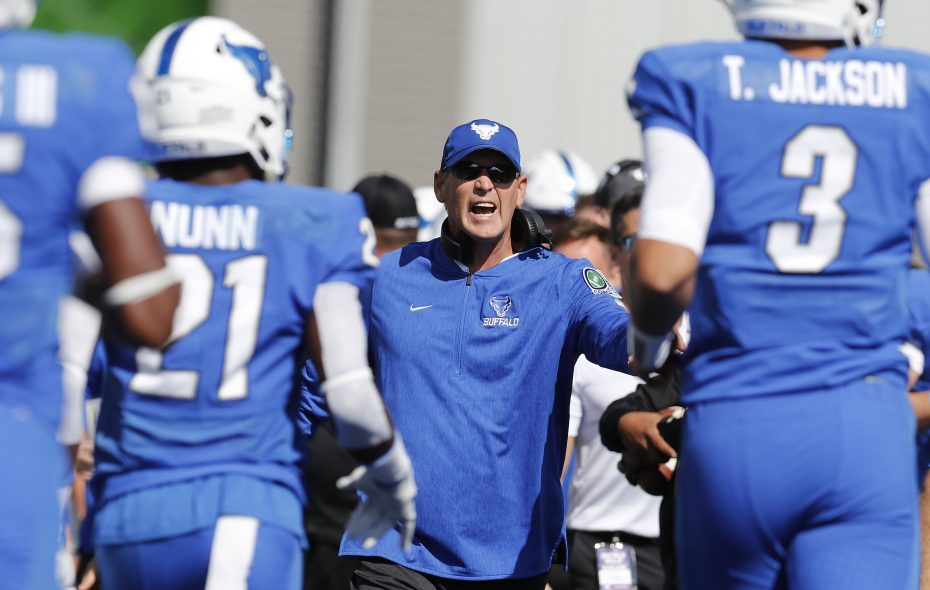 UB football coach Lance Leipold. (Mark Mulville/News file photo)