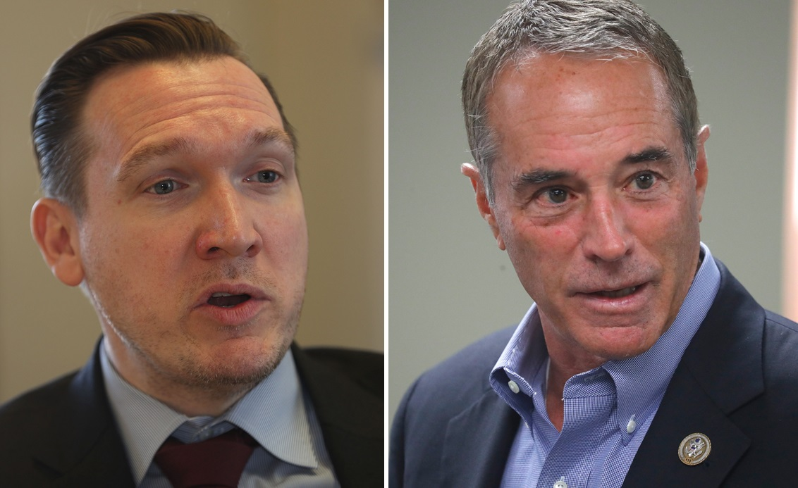 Grand Island Supervisor Nathan McMurray, left, jumped into the race against incumbent Republican Chris Collins in the heavily Republican 27th District. (News file photos)
