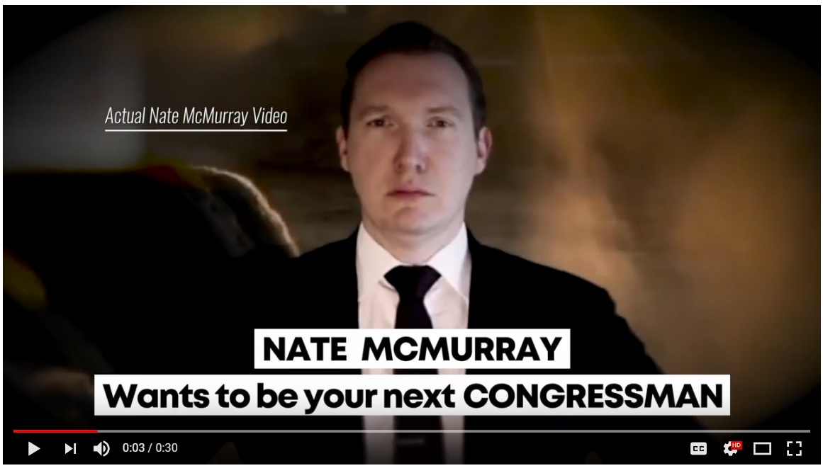 A screen grab of an ad paid for by the campaign of Rep. Chris Collins that aired Friday. (YouTube)