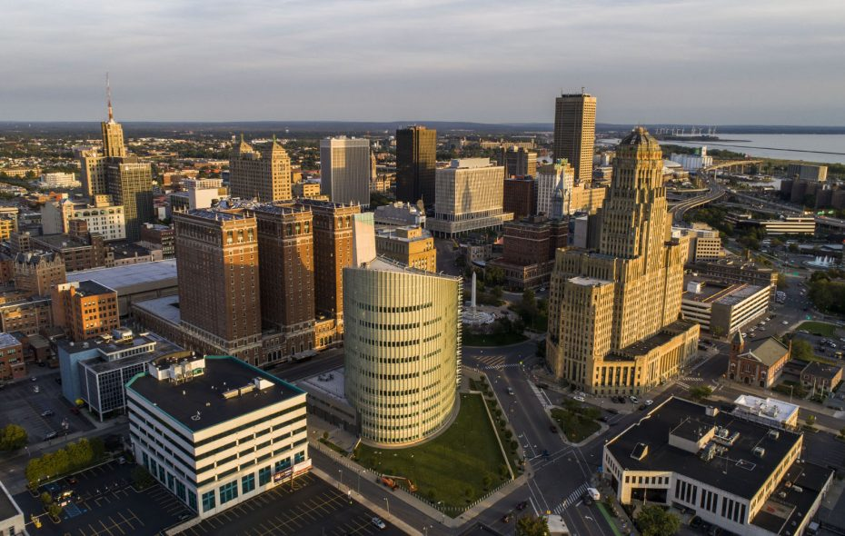Downtown living has become appealing to more people in recent years. (Derek Gee/Buffalo News)