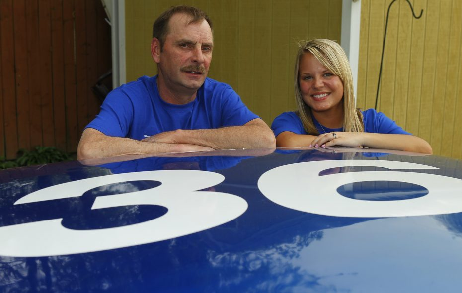 Ken Maltby and his daughter, Michele, pictured in 2013. (John Hickey/Buffalo News)