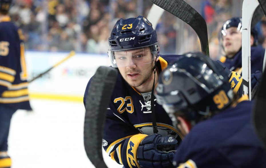 Sam Reinhart's 19th goal of the season was his 200th NHL point (James P. McCoy/News file photo).