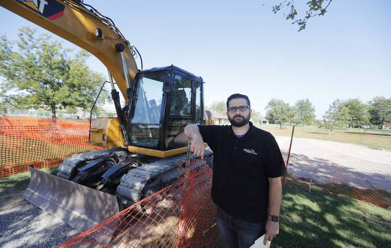 Niagara Falls Director of Community Development Seth A. Piccirillo, seen Sept. 11, 2018, at a playground site in Hyde Park, announced Thursday he's running for mayor. (Mark Mulville/Buffalo News)