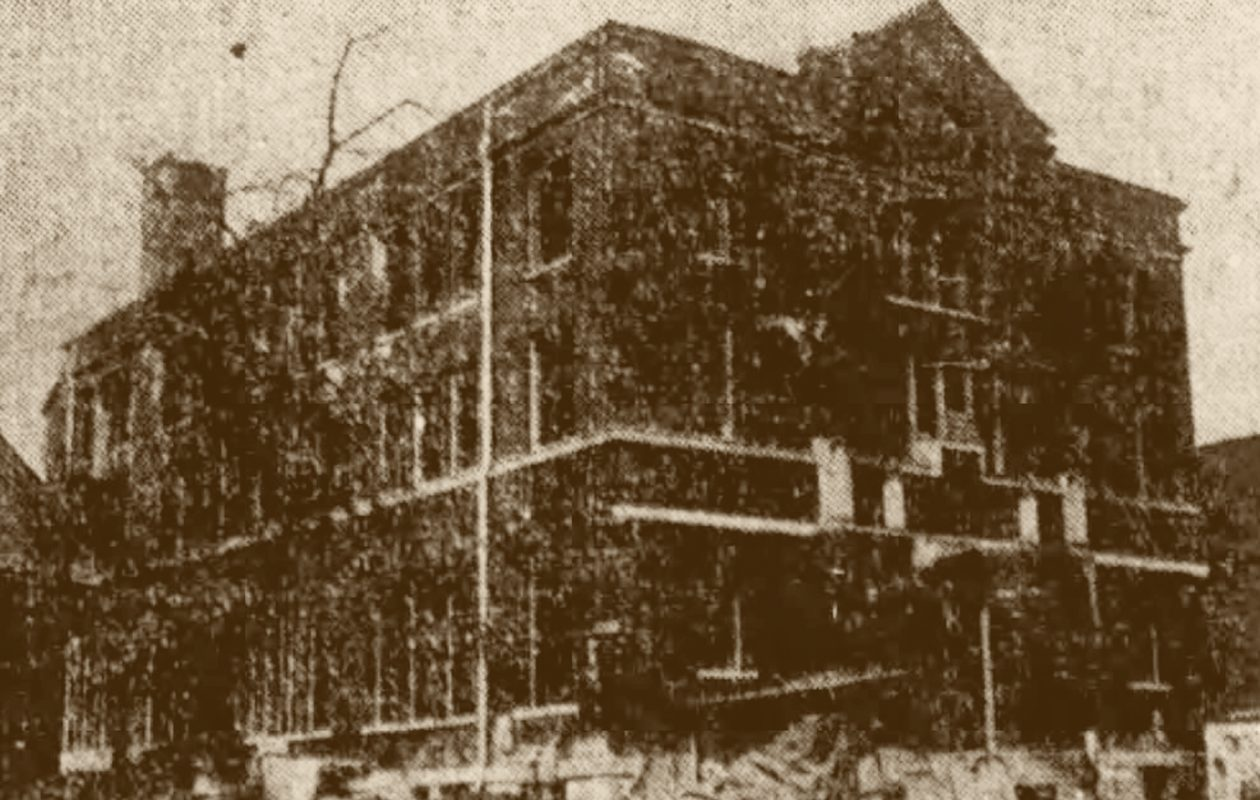 St. Monica church and school as it neared completion in 1913.
