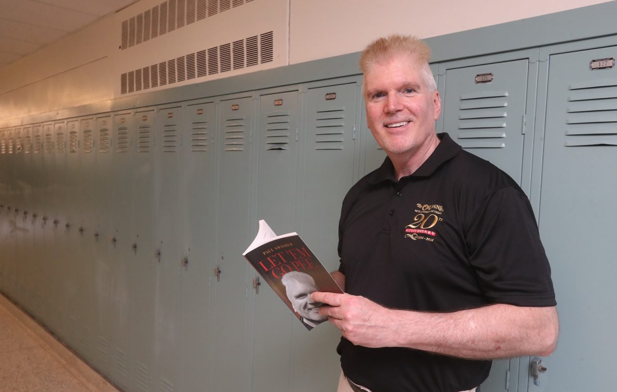 Paul Swisher is retired after 32 years of teaching high school science. But he's till teaching: He wrote a book offering practical advice for teachers. (John Hickey/Buffalo News)