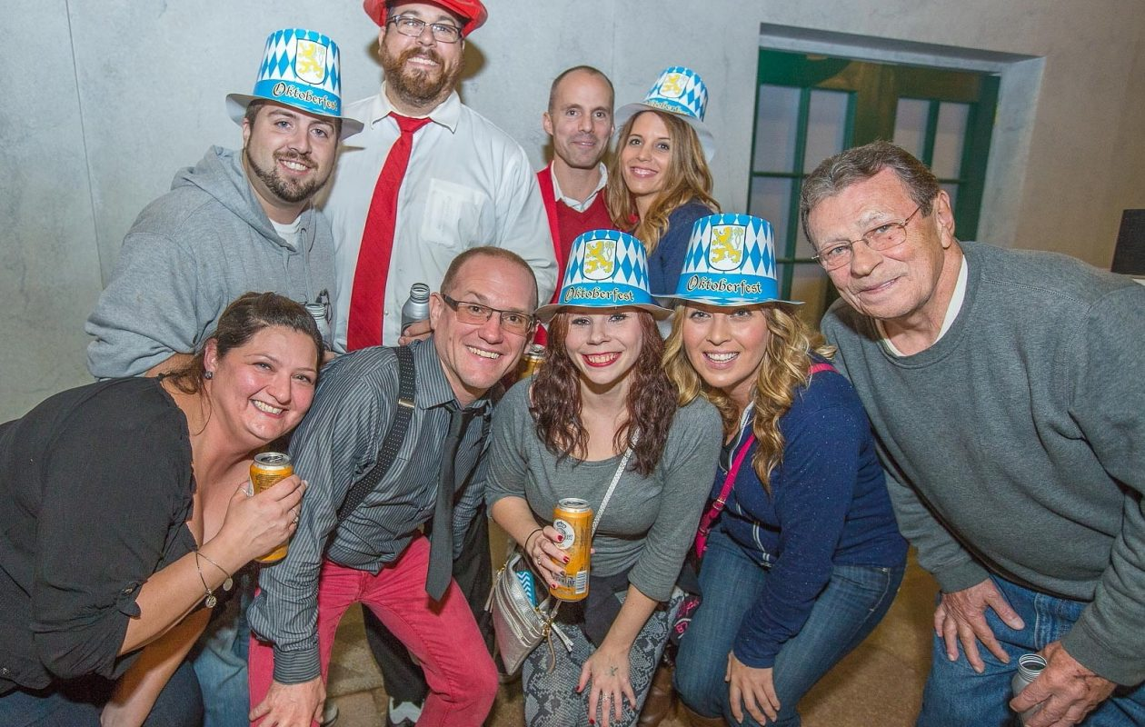 Smiling faces and cute Oktoberfest hats at the 2016 Central Terminal Oktoberfest. It's back again Saturday. (Don Nieman/Special to The News)