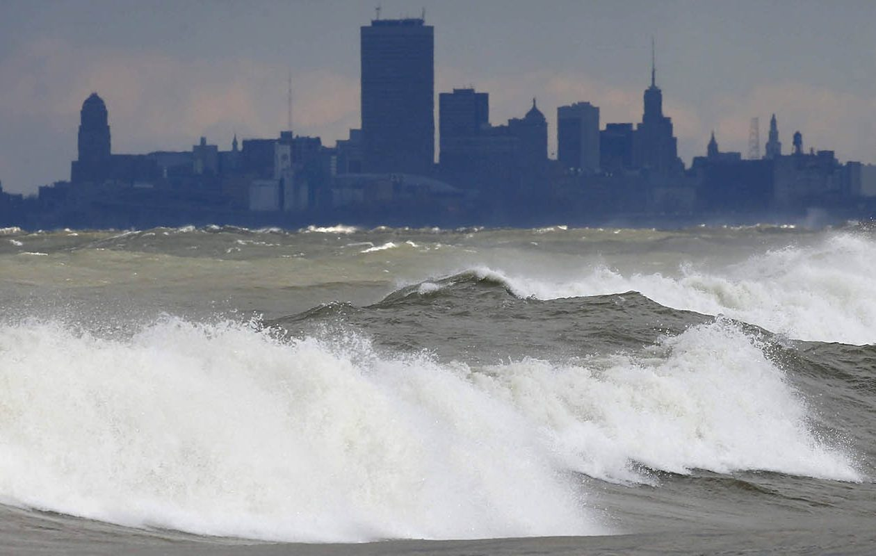 windy  rainy election day could bring lake erie flooding