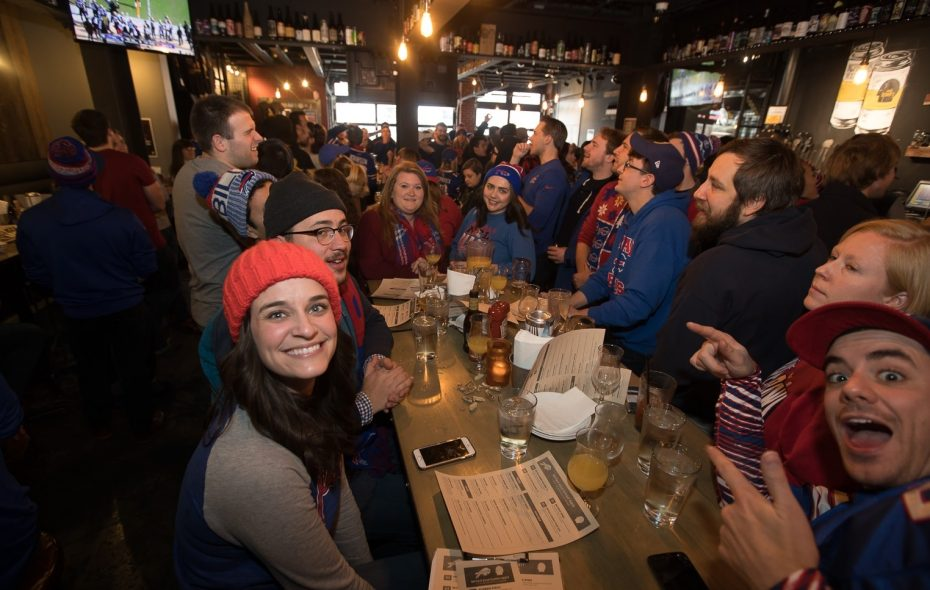 The scene in Thin Man Brewery during the Bills' playoff loss to Jacksonville. The Elmwood Avenue destination has further plans for the Bills' 2018 season. (Chuck Alaimo/Special to The News)