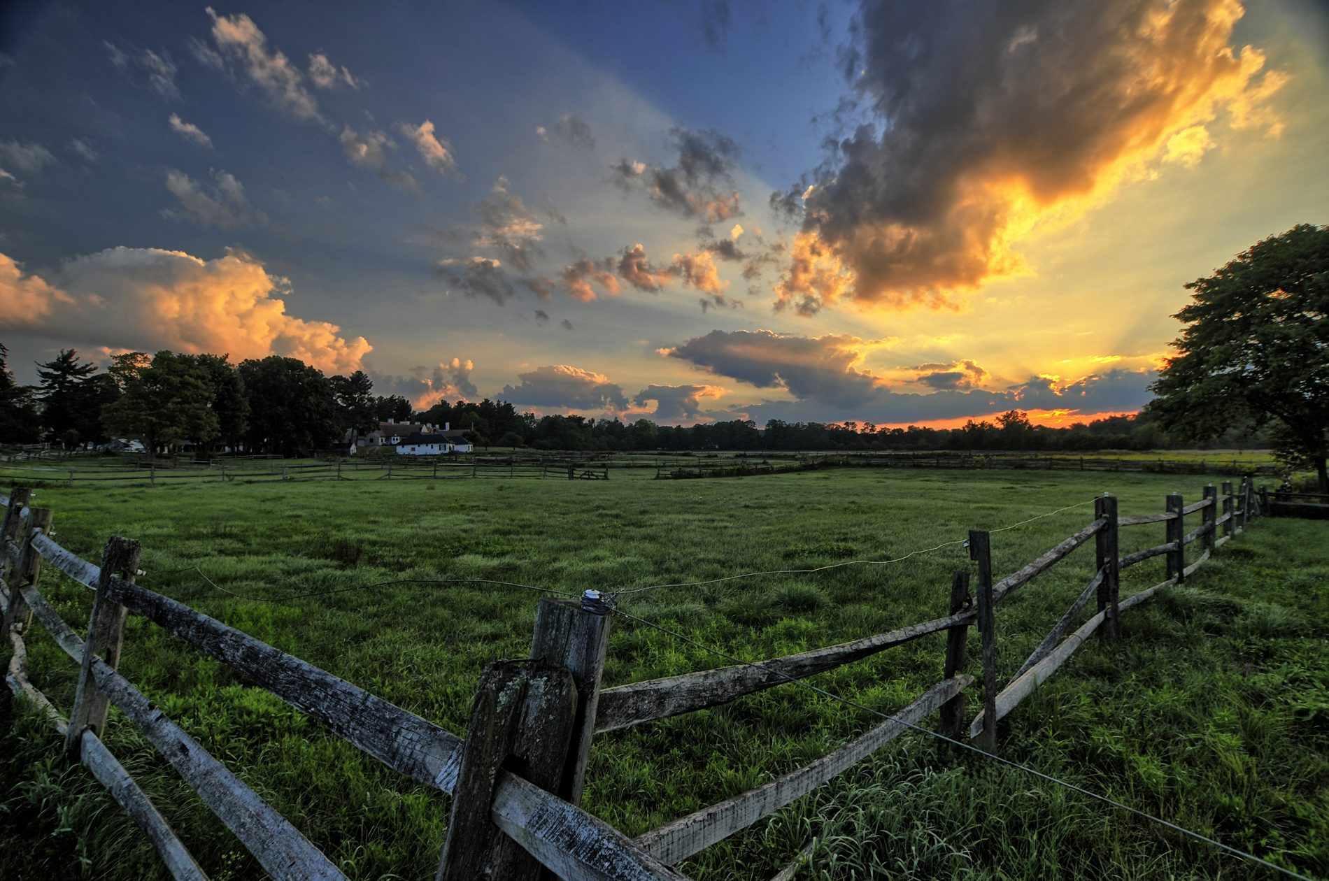 The sun sets over Knox Farm. (Photo courtesy of Peter Potter.)