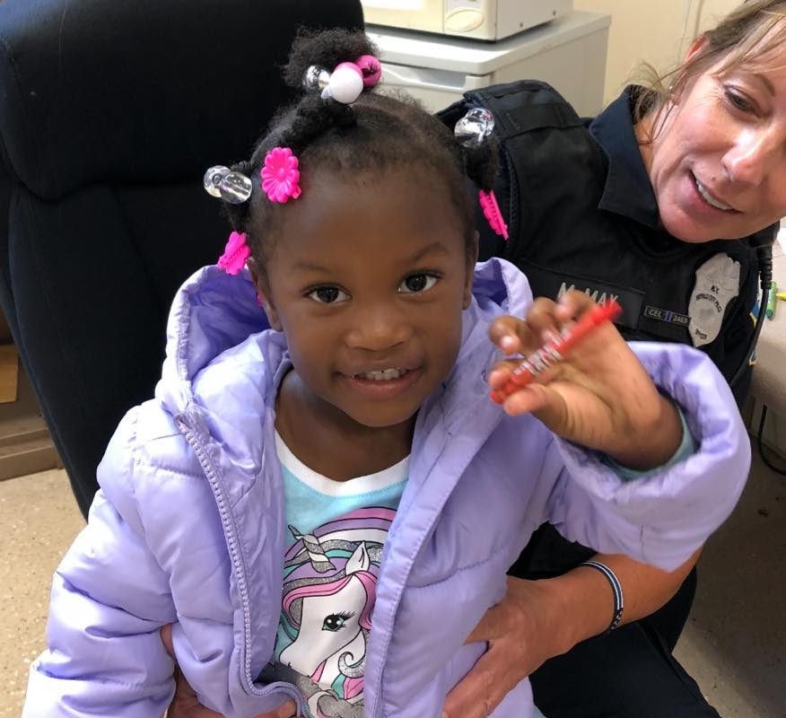 Buffalo police found this  girl alone on William Street near Broadway. (Courtesy of Buffalo Police Department)