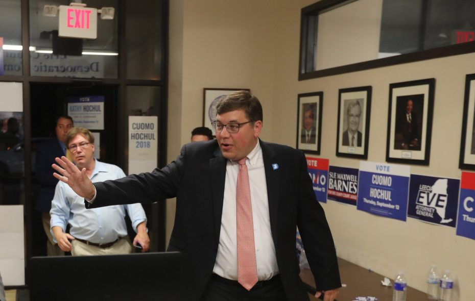 Erie County Democratic chairman Jeremy J. Zellner is facing questions about the party's compliance with campaign finance laws and about whether his second role as a Democratic elections commissioner is blocking an investigation into that allegation. (John Hickey/News file photo)