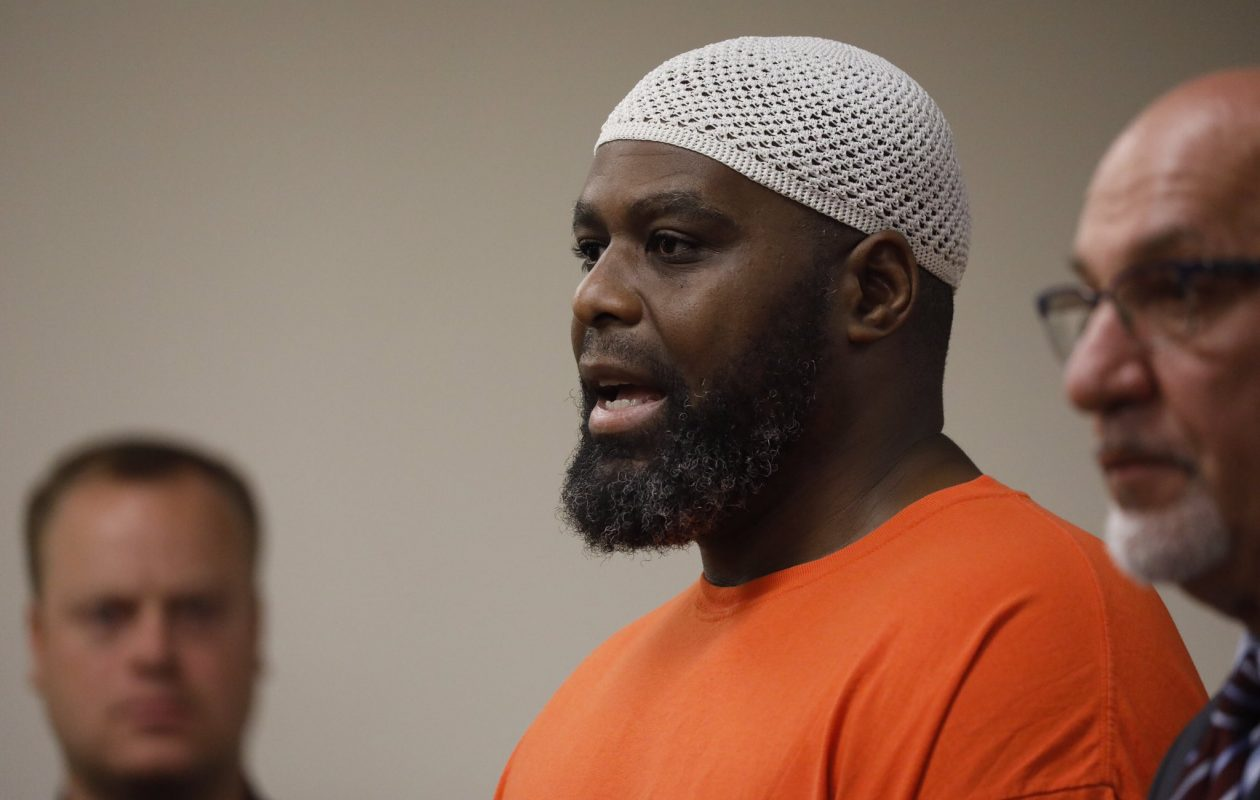 Lamarr Scott, shown in Erie County Court in September, was sentenced to 8 and 1/3 to 25 years in prison for the 1991 fatal shooting of 17-year-old Torriano Jackson. (Derek Gee/Buffalo News)