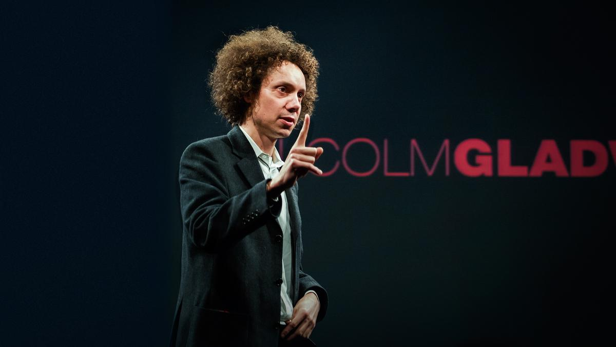 Malcolm Gladwell speaking at TED2004.
