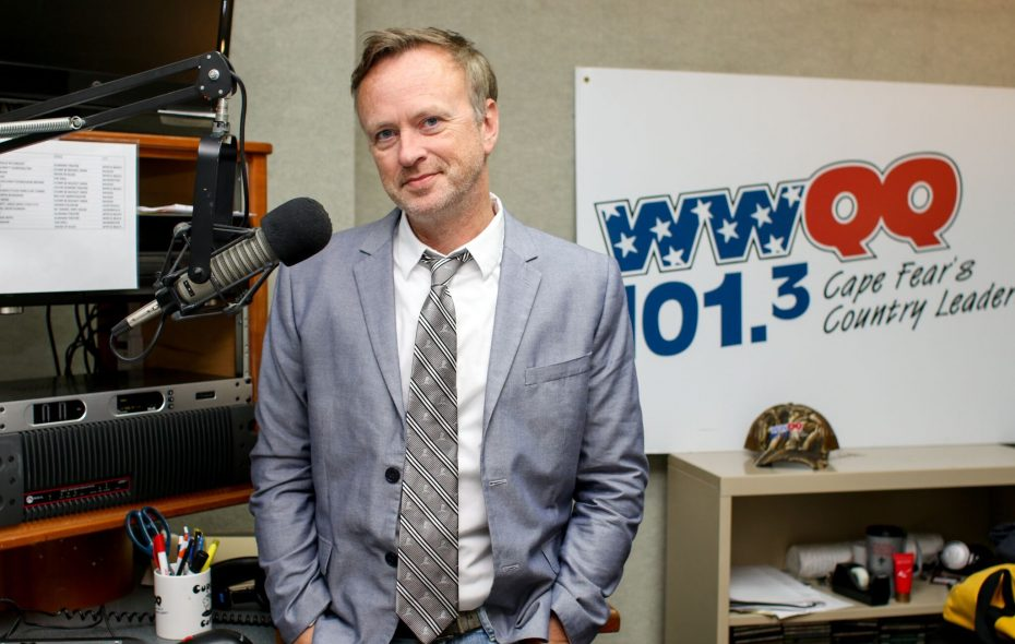 """""""Your heart just goes out to all these people,"""" said Brockport native Eric Medler, a radio broadcaster at WWQQ in Wilmington, N.C. (Photo courtesy of Eric Medler)"""