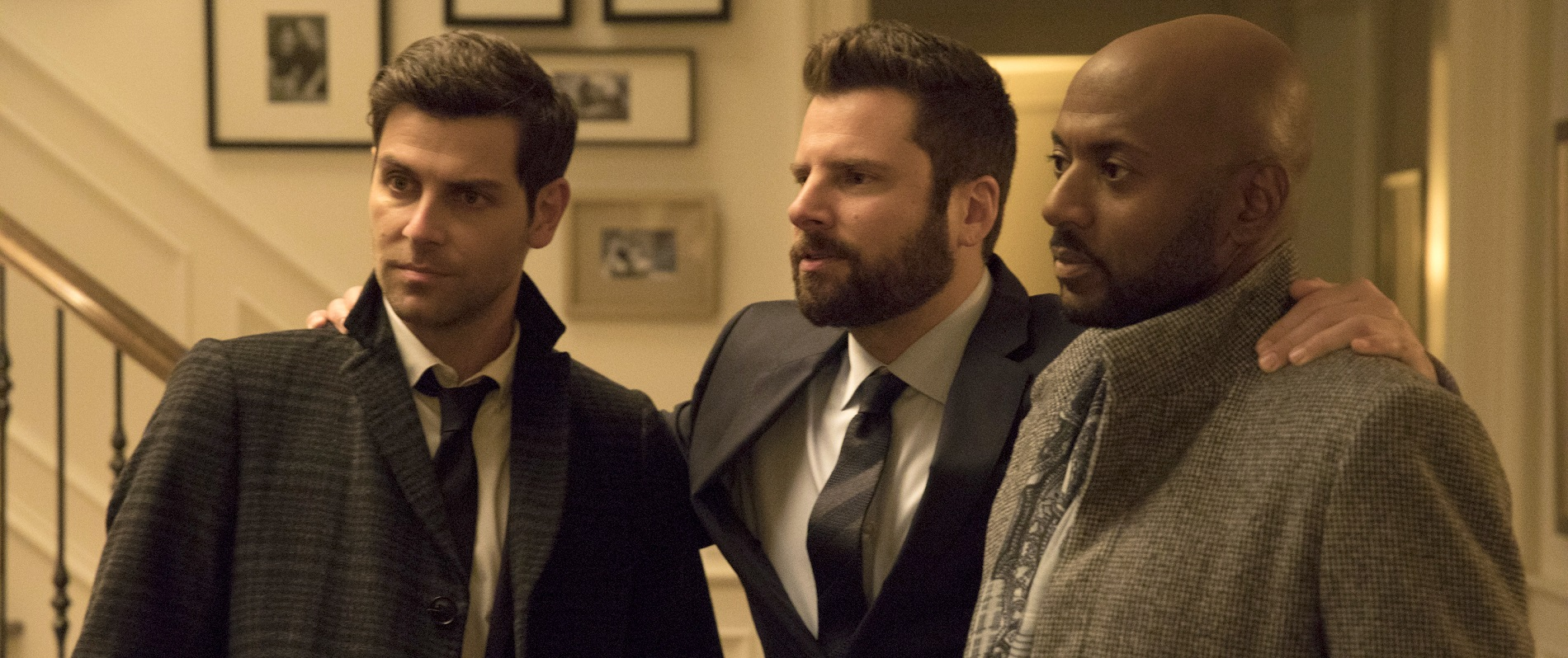 About ABC's 'A Million Little Things,' Alan Pergament says he 'really, really wanted to like this series. But it tries too hard to move viewers emotionally and has several other little things that seem fake.' Among the shows stars are, from left: David Giuntoli, James Roday and Romany Malco. (Photo by Jack Rowand/ABC)