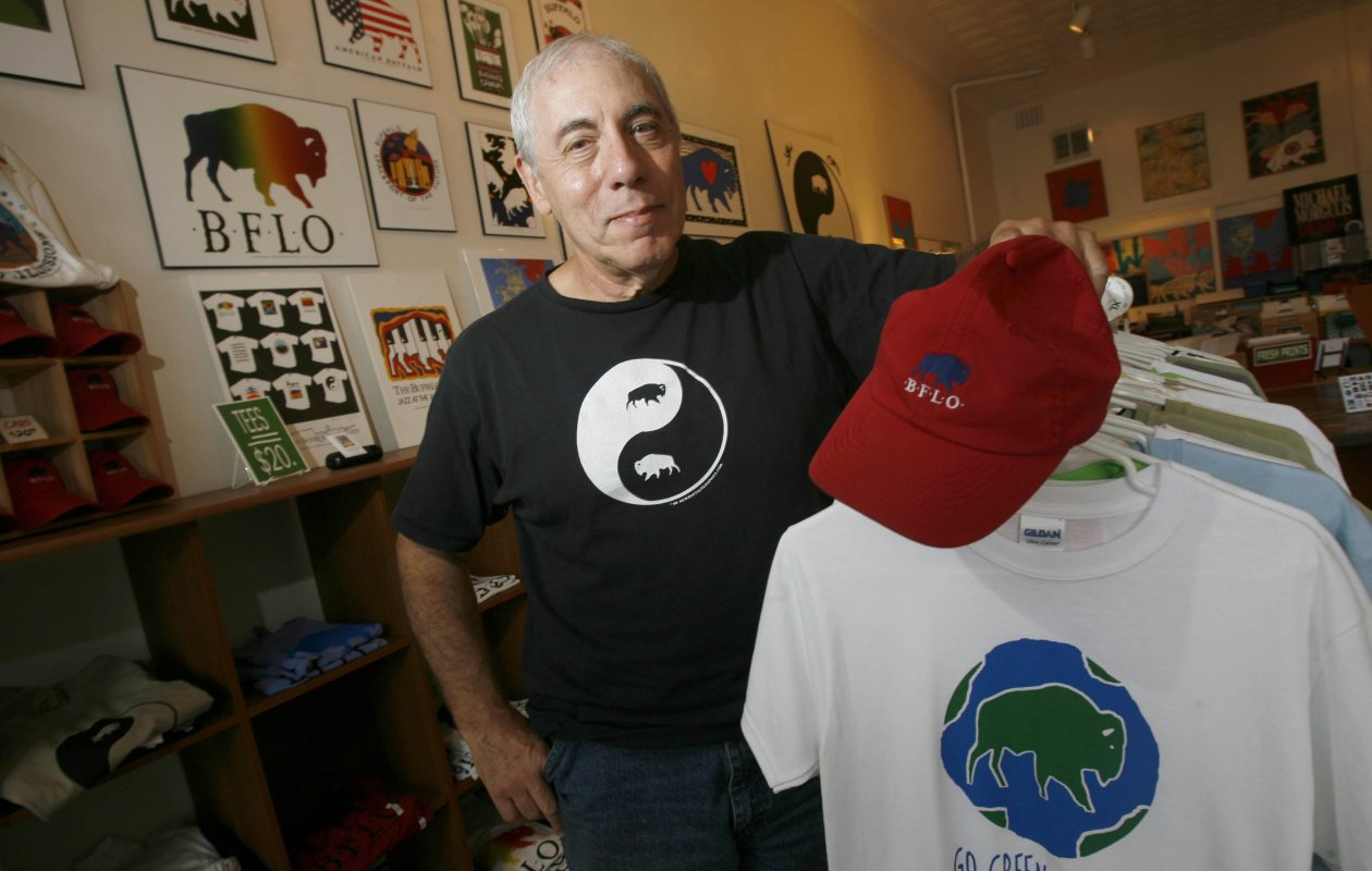 Michael Morgulis with some of his Buffalo-themed merchandise in 2013. (Robert Kirkham/News file photo)