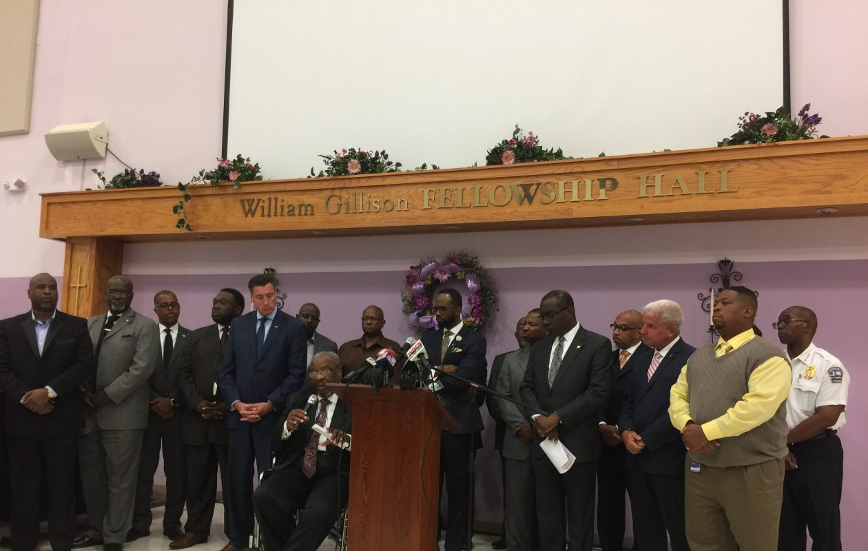 Buffalo church leaders say they'll raise money to supplement the local witness protection program following a meeting with city leaders and law enforcement Wednesday, Sept. 19, 2018 at Mount Olive Baptist Church in Buffalo. (Maki Becker/Buffalo News)