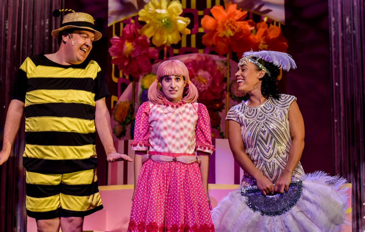 Kevin Kennedy, Sabrina Kahwaty and Dominique Kempf in TOY's 2018 production of 'Pinkalicious.'