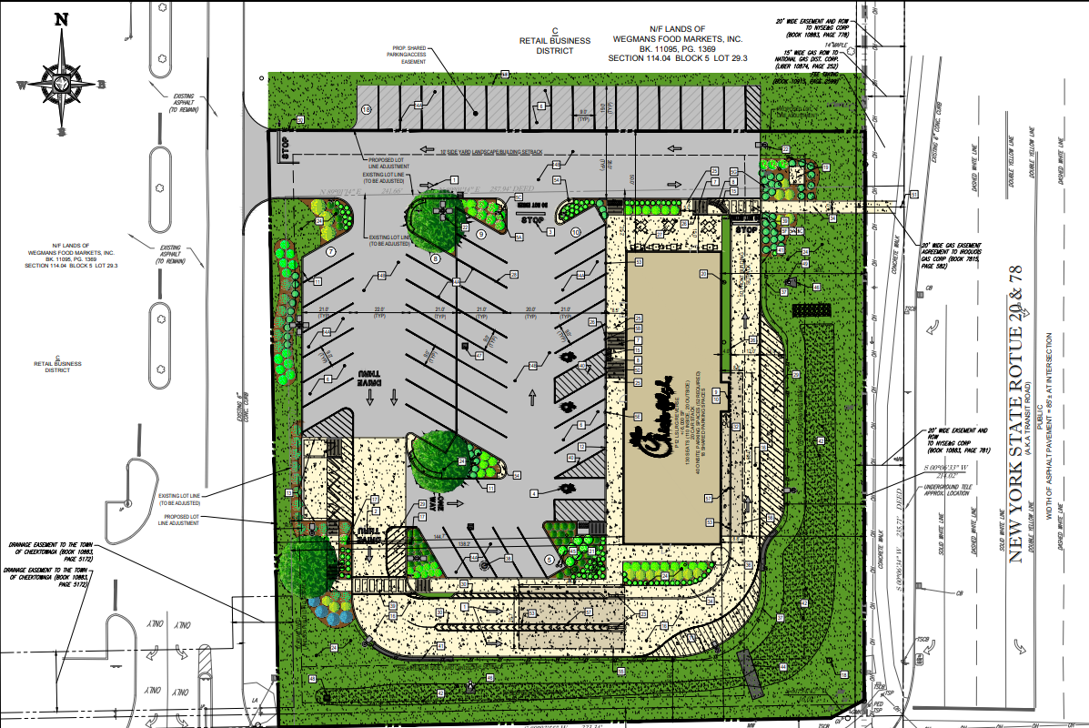 A rendering of the future Chick-fil-A restaurant at Transit and Losson Roads in Cheektowaga by Bohler Engineering. (Contributed photo)