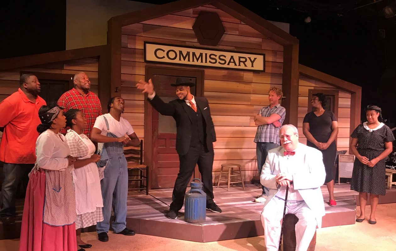 The cast of Paul Robeson Theatre's 'Purlie,' which mixes two outstanding lead roles with real musical issues. (via Paul Robeson Theatre)