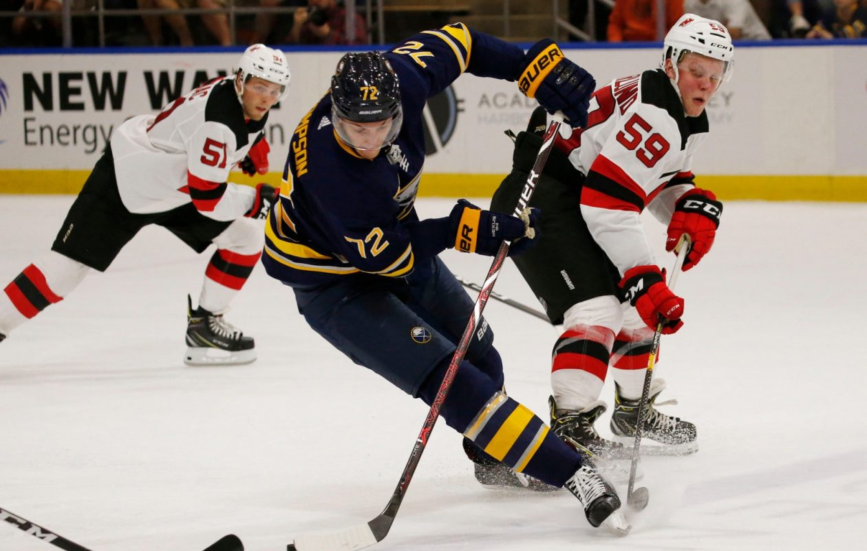 Tage Thompson  (Harry Scull Jr./News file photo)